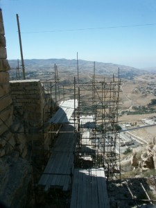 Crusader fortress scaffold